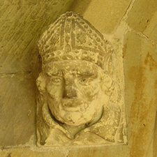 Porch – detail – All Saints, Rudston