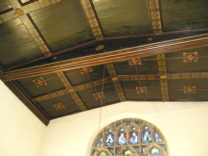 Rillington church – painted ceiling