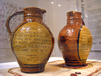 Conversation Jugs, at York Art Gallery