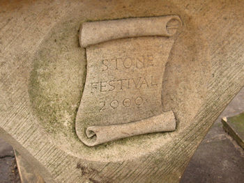 Inscription: Stone Festival 2000