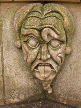 Detail of stone bench, York city centre