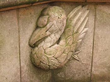 Carved stone bench, York, 2000