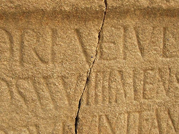 Carved inscription