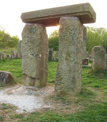 Sunlight through stones, St Nicholas Fields