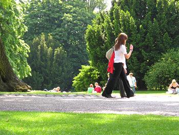Museum Gardens, visitors, summer 2007