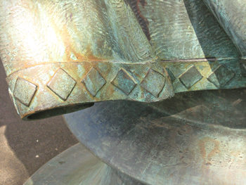 Sculpture in Rowntree Park – detail