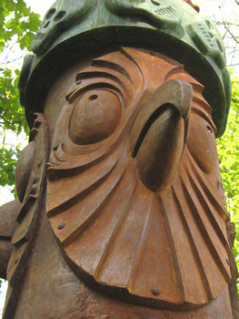 Sculpture in Rowntree Park