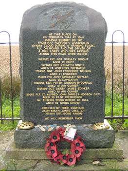 Garrowby Hill memorial