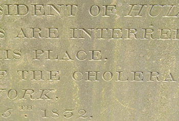 Detail from inscription in memory of Anthony Chambers