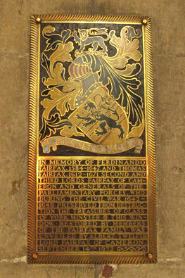 Plaque in York Minster's chapter house