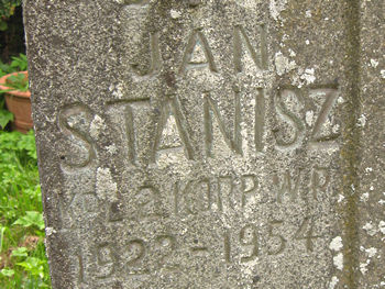 Grave of Jan Stanisz, Sutton-on-the-Forest cemetery