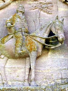 Detail – Sir Tatton Sykes on his horse
