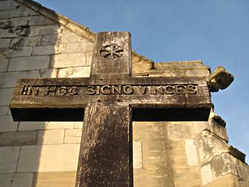 St Cuthbert's churchyard cross – detail