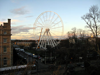 View of the big wheel, from York's city walls