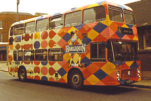 Harlequin bus – early/mid 1980s