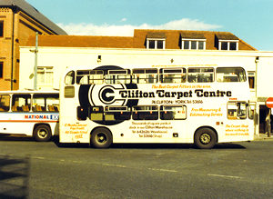 Clifton Carpets bus – early/mid 1980s