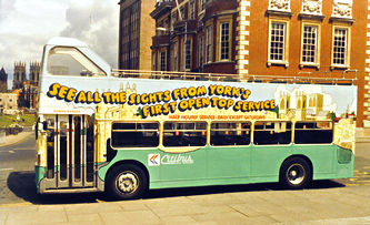 York's first open-top bus service, 1980s