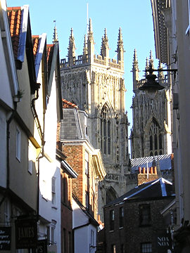 Petergate and Minster towers