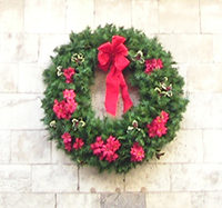 Festive wreath, St Sampson's