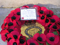 Poppy wreath 'From all members of the York branch Royal British Legion'