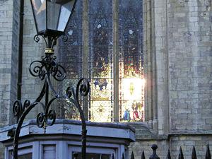 York Minster – light through stained glass windows