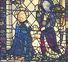 Detail of Minster stained glass