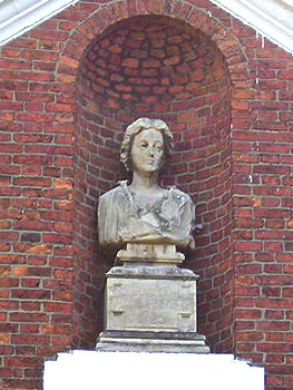 Bust of Mary Wandesford, Wandesford House, Bootham, York