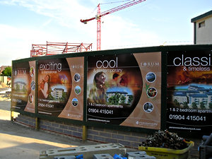 The Forum, advertising hoardings, Heworth Green