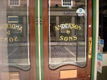 Shopfront – Anderson menswear – closed down
