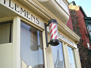 Gents hairdressers, Front Street