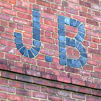 'JB' detail, brickwork