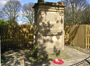 Leeman Road area war memorial, on Salisbury Road