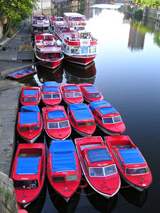 Red boats resting