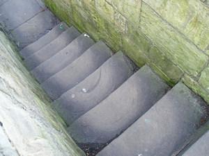 Stone steps, stone walls