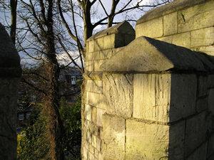 Stone in evening sunlight
