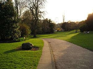 Museum Gardens, evening