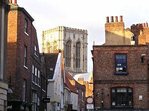 Stonegate – towards the Minster – from St Helen's Square