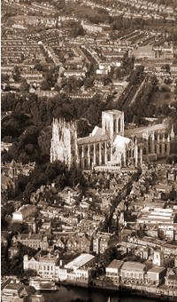 Aerial view of York, adapted from an image by DCAP