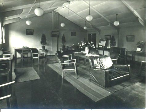 Interior view of RCAF service hostel, York