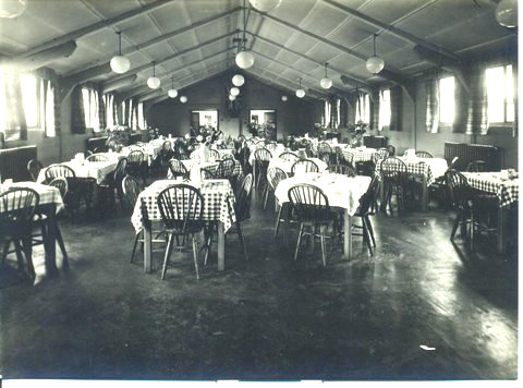 Dining area in York hostel for RCAF