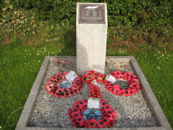 Memorial to bomber crew, at Newton on Ouse