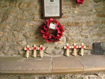 Scawton church: memorial