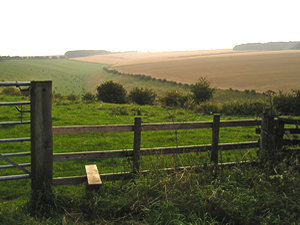 Stile, by Deep Dale, evening