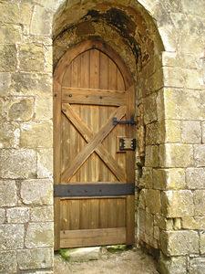 St Martin's, wooden door