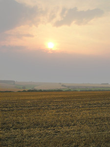 Sunset over the Wolds